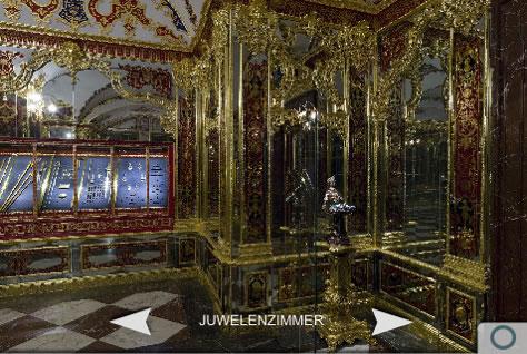 Screenshot aus der iPhone-App zum Grünen Gewölbe in Dresden