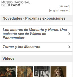 mobile Website des Museo del Prado (iPhone)
