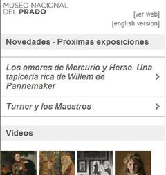 mobile Website des Museo del Prado (iPhone)