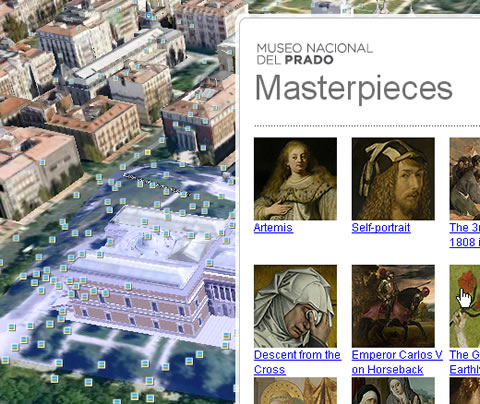 Screenshot: Museo del Prado in Google Earth