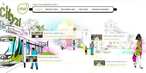 Screenshot vom Portal Cityzi