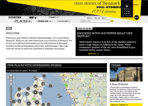Startseite von 1001 Stories of Denmark