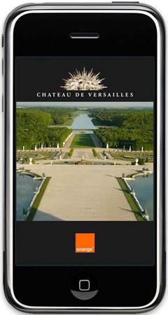 Titelscreen der iPhone App Jardins de Versailles