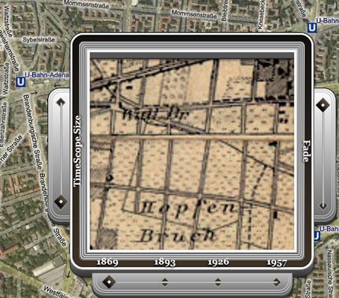 TimeMap Berlin, Karte von 1869