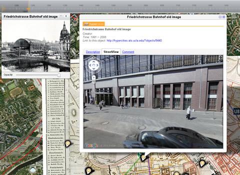 Ortsbezogene Informationen aus dem Portal Hypercities