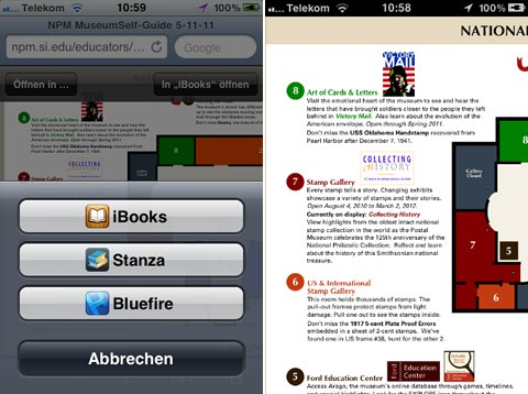 National Postal Museum, Verlinkung auf E-Book-Reader