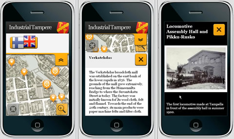 Industrial Tampere - Web App Mobile Tour (Screenshots)