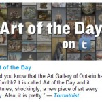 Hinweis auf Art of the Day auf ArtMatters Blog der AGO
