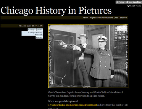 Chicago History in Pictures - Fotoblog des CHM - Screenshot