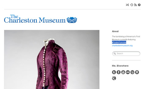 Tumblr Blog des Charleston Museum - Textile Tuesday