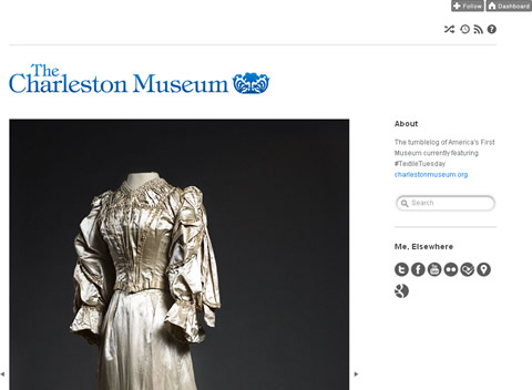 Tumblr Blog des Charleston Museum - Screenshot