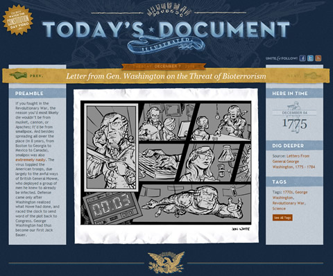 Today's Document Illustrated von Jon White - Screenshot
