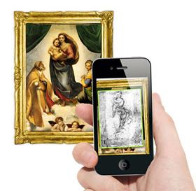 AR im Museum - Montage zur Illustration der geplanten Pausanio-App