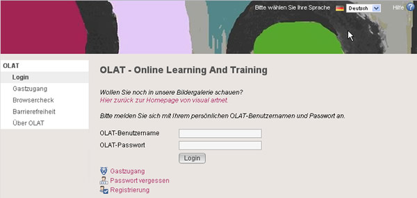 visual artnet - Screenshot Online Learning