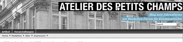 Screenhsot Blog des Deutschen Forums für Kunstgeschichte