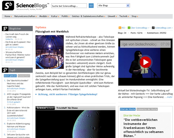 Screenshot Scienceblogs