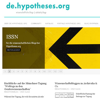 Screenshot de.hypotheses.org