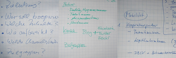 Flipcharts aus dem Workshop Kollaborative Blogs auf der MAI-Tagung 2012