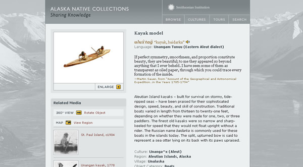Smithsonian Institution Alaska Native Collections Sharing Knowledge